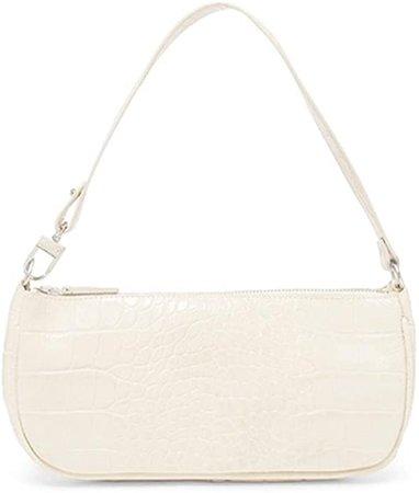 Barabum Retro Classic Crocodile Pattern Clutch Shoulder Bag with Zipper Closure for Women(White): Handbags: Amazon.com