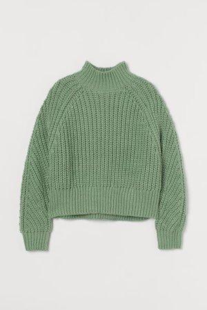 Sweater - Green - Ladies | H&M US