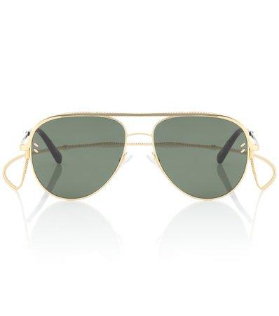 Aviator Sunglasses With Chain - Stella McCartney | mytheresa