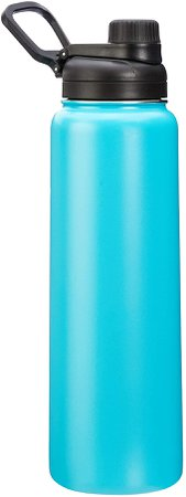 Amazon.com: AmazonBasics Stainless Steel Insulated Water Bottle with Spout Lid – 30-Ounce, Teal: Kitchen & Dining