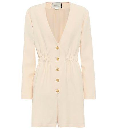 Gucci - Wool and silk jumpsuit | Mytheresa