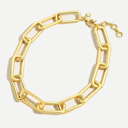 J.Crew: Long Link Gold Necklace For Women