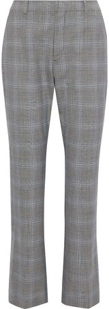Prince Of Wales Checked Woven Bootcut Pants