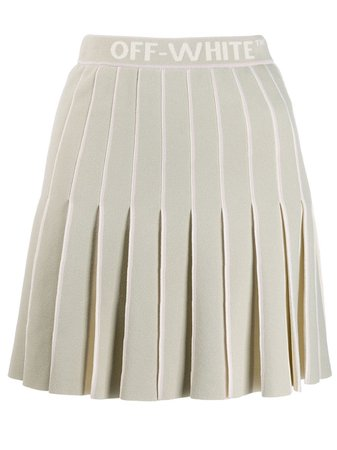 Off-White Pleated Mini Skirt - Farfetch