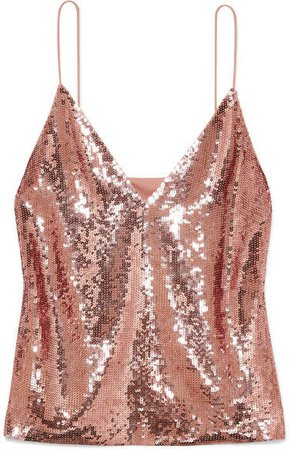 Coda Sequined Georgette Camisole - Pink