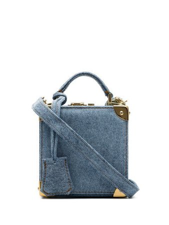 Natasha Zinko Blue stonewashed-denim Box Bag - Farfetch