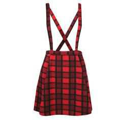 plaid pinafore
