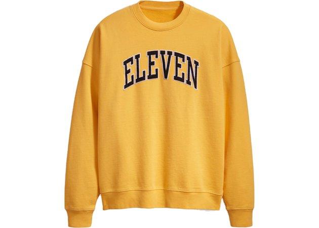 Levis x Stranger Things Eleven's Crewneck Sweatshirt Yellow - SS19