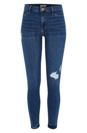 River Island Strand Ripped Skinny Jeans | Nordstrom