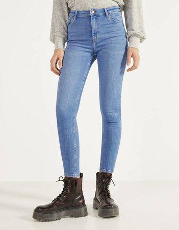 High waist skinny jeans - Bershka