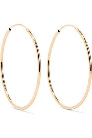 Loren Stewart | Infinity 14-karat gold hoop earrings | NET-A-PORTER.COM