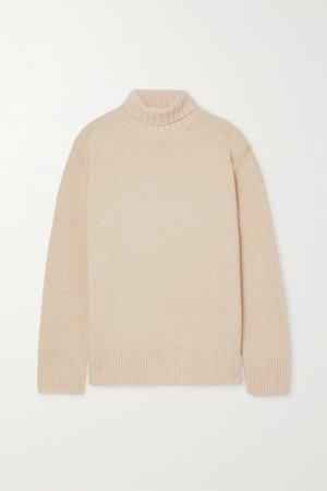 Ivory Oversized cashmere turtleneck sweater | Joseph | NET-A-PORTER