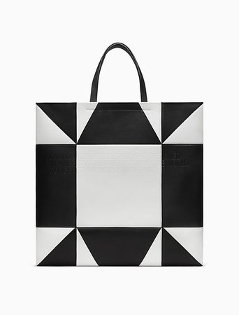oversized geometric quilted tote in nappa leather | Calvin Klein