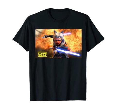 Amazon.com: Star Wars The Clone Wars Ahsoka Tano Teaser Poster: Clothing