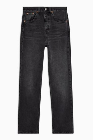 Washed Black Editor Straight Leg Jeans | Topshop