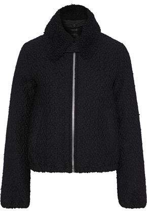 Shearling-trimmed Wool-blend Boucle-tweed Jacket