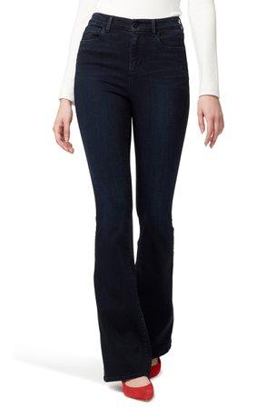 Sanctuary High Waist Flare Jeans (Nighthawk) | Nordstrom