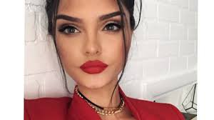 red holiday makeup - Google Search