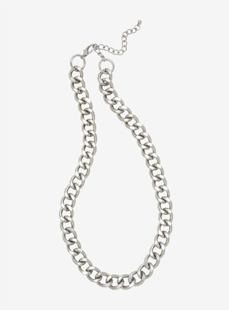 *clipped by @luci-her* Silver Thick Chain Necklace