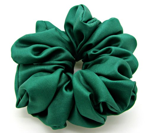dark green scrunchie