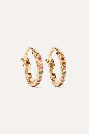 Gold Mini Rainbow 18-karat gold multi-stone earrings | Ileana Makri | NET-A-PORTER