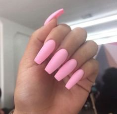 Long Pink Acrylic Nails. (With images) | Pink acrylic nails, Barbie pink nails, Nails tumblr