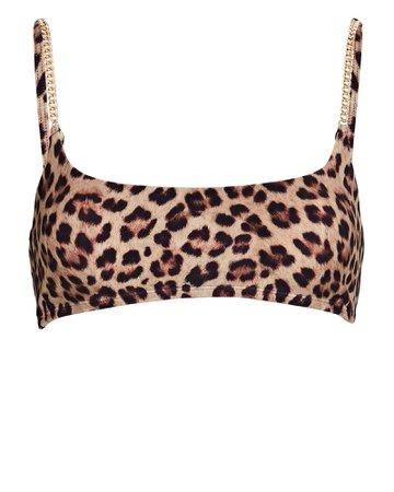 WeWoreWhat Chain Leopard Cami Bra Top | INTERMIX®