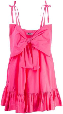 summer bow ruched dress