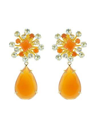 Bounkit Jewelry Carnelian Pear clip-on Earrings - Farfetch