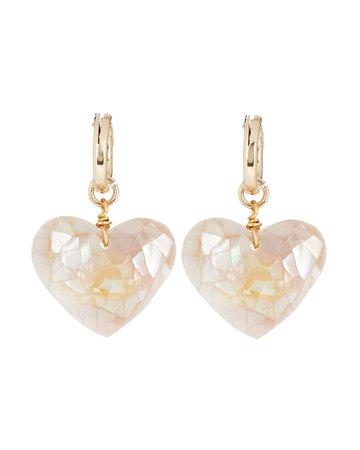 Brinker & Eliza Little Love Pearl Huggie Earrings | INTERMIX®