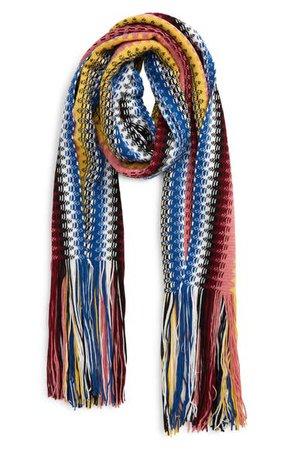 Missoni Pattern Stripe Fringe Wool Scarf | Nordstrom