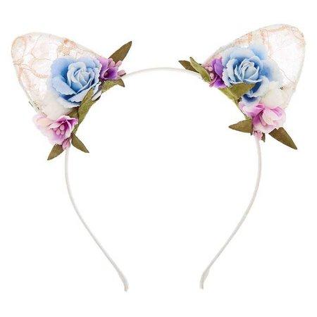 Flower Lace Cat Ears Headband