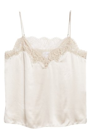 CAMI NYC The Candice Lace Trim Silk Camisole   Nordstrom
