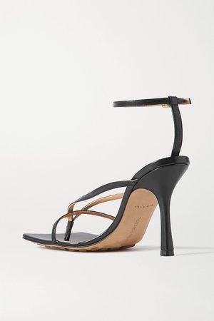 Black Leather sandals   Bottega Veneta   NET-A-PORTER