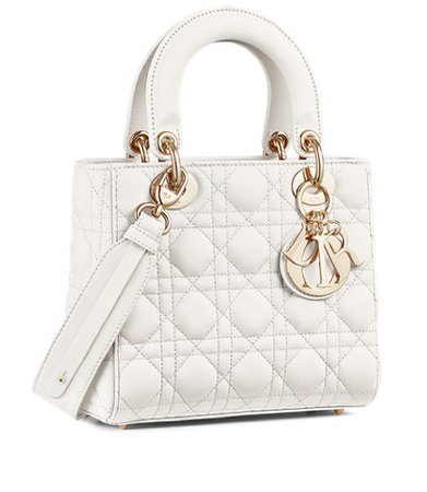 white lady Dior bag