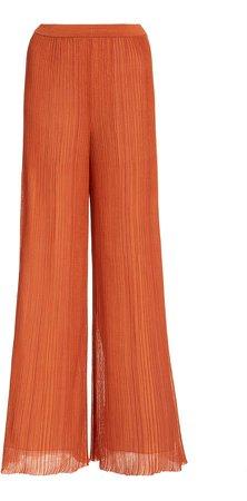 Flared Cotton-Blend Pants
