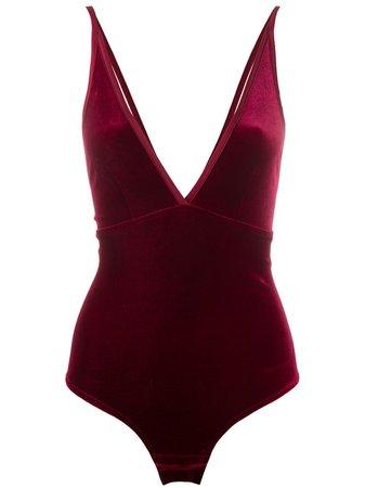 Simone Wild Velvet Bodysuit - Farfetch