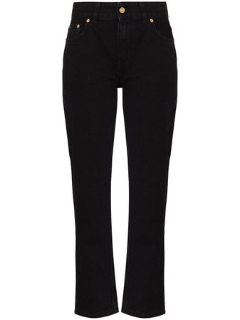 Shop black Tom Wood Vesper straight-leg jeans with Express Delivery - Farfetch