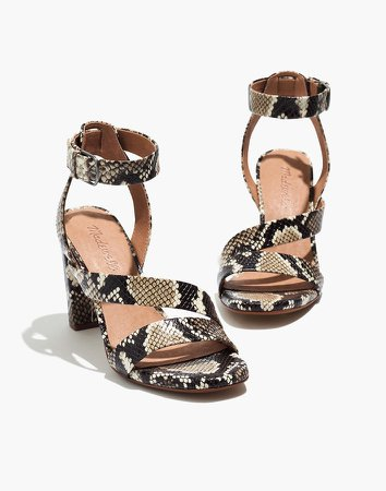 The Liv Sandal in Snake Embossed Leather