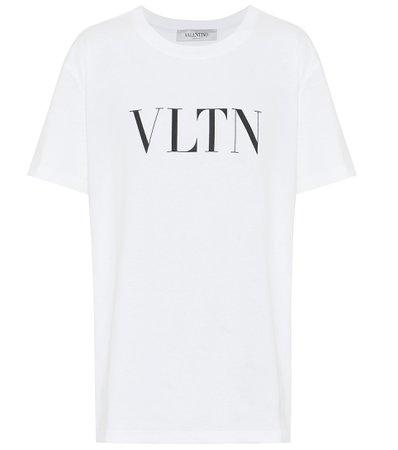 Valentino - VLTN cotton T-shirt | Mytheresa