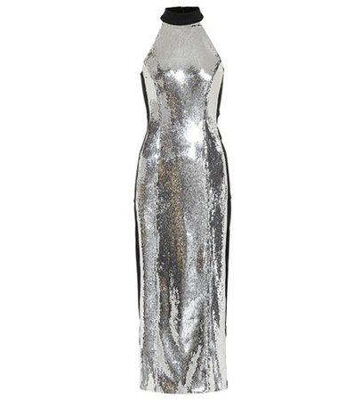 Chrome Panel sequinned dress