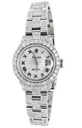 platinum full diamond Rolex