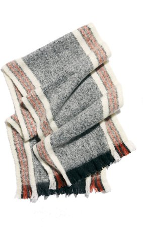 Brushed Racer Stripe Blanket Scarf