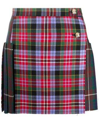 Vivienne Westwood Tartan Print Mini Skirt - Farfetch