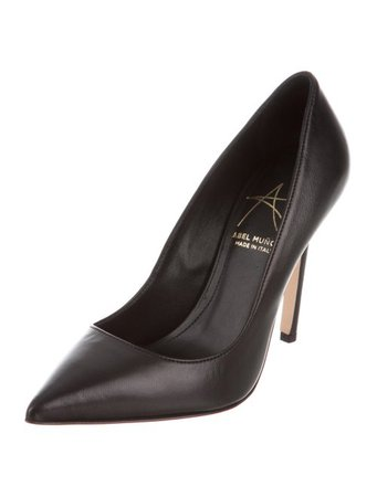 Abel Muñoz Leather Pointed-Toe Pumps - Shoes - W7A20463 | The RealReal