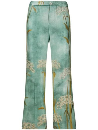 F.R.S For Restless Sleepers straight printed trousers £542 - Shop Online - Fast Delivery, Free Returns