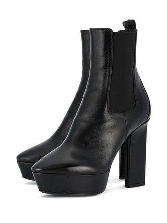 Saint Laurent Black Vika 125 Leather platform boots $1,010 - Buy SS18 Online - Fast Global Delivery, Price