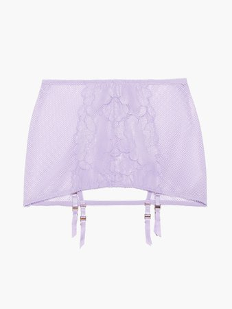 Floral Glow Backless Garter Skirt in Purple Stone Lavender | SAVAGE X FENTY