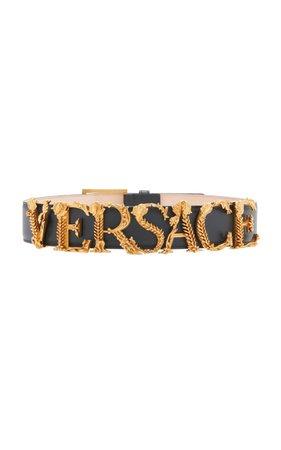 Logo Letter Belt by Versace