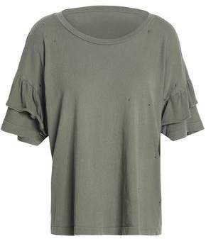 Distressed Cotton-jersey Top